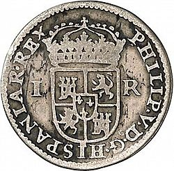 Large Obverse for 1 Real 1707 coin