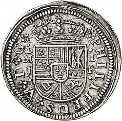 Large Obverse for 1 Real 1717 coin