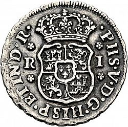Large Obverse for 1 Real 1744 coin