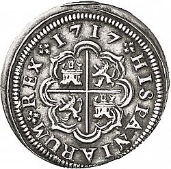 Large Reverse for 1 Real 1717 coin
