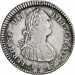 Large Obverse for 1 Real 1808 coin