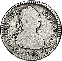 Large Obverse for 1 Real 1809 coin