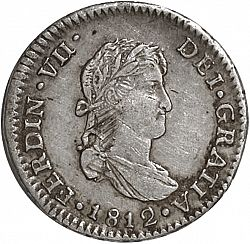 Large Obverse for 1 Real 1812 coin