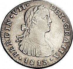 Large Obverse for 1 Real 1813 coin