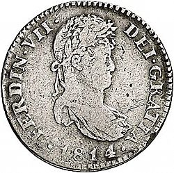 Large Obverse for 1 Real 1814 coin