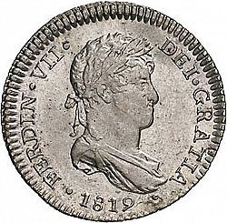 Large Obverse for 1 Real 1819 coin
