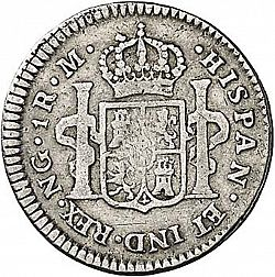 Large Reverse for 1 Real 1809 coin