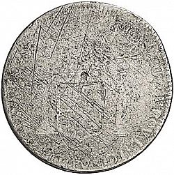 Large Reverse for 1 Real 1811 coin
