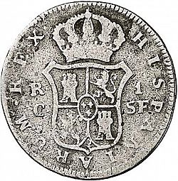 Large Reverse for 1 Real 1814 coin