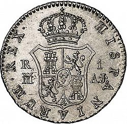 Large Reverse for 1 Real 1828 coin