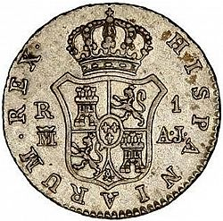 Large Reverse for 1 Real 1833 coin