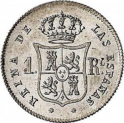 Large Reverse for 1 Real 1863 coin