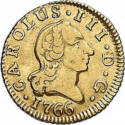 Large Obverse for 1/2 Escudo 1766 coin