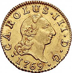 Large Obverse for 1/2 Escudo 1769 coin