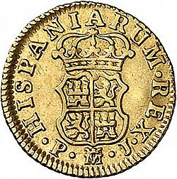 Large Reverse for 1/2 Escudo 1766 coin