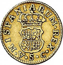 Large Reverse for 1/2 Escudo 1767 coin