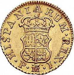 Large Reverse for 1/2 Escudo 1769 coin