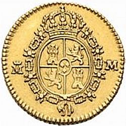 Large Reverse for 1/2 Escudo 1788 coin
