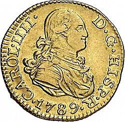Large Obverse for 1/2 Escudo 1789 coin