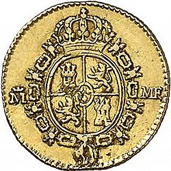 Large Reverse for 1/2 Escudo 1791 coin
