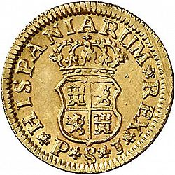 Large Reverse for 1/2 Escudo 1746 coin