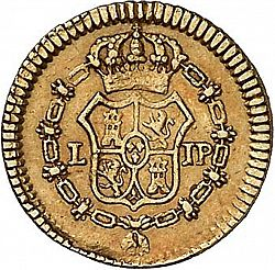 Large Reverse for 1/2 Escudo 1814 coin