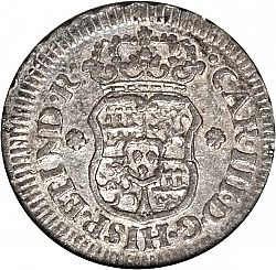 Large Obverse for 1/2 Real 1762 coin