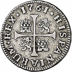 Large Reverse for 1/2 Real 1761 coin