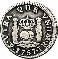 Large Reverse for 1/2 Real 1767 coin