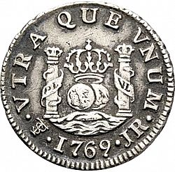 Large Reverse for 1/2 Real 1769 coin