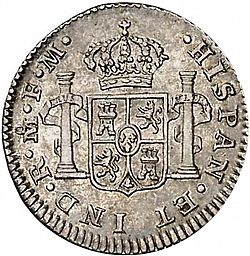 Large Reverse for 1/2 Real 1774 coin