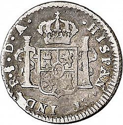 Large Reverse for 1/2 Real 1778 coin