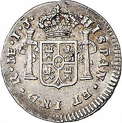 Large Reverse for 1/2 Real 1788 coin