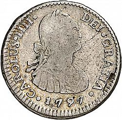 Large Obverse for 1/2 Real 1797 coin