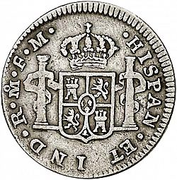 Large Reverse for 1/2 Real 1790 coin