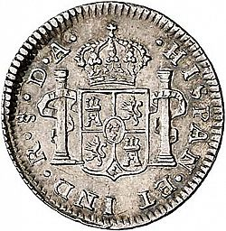 Large Reverse for 1/2 Real 1793 coin