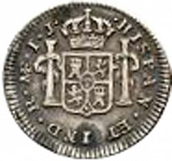 Large Reverse for 1/2 Real 1795 coin