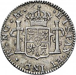 Large Reverse for 1/2 Real 1797 coin
