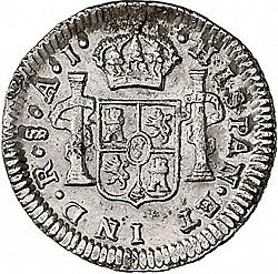 Large Reverse for 1/2 Real 1800 coin