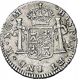 Large Reverse for 1/2 Real 1801 coin
