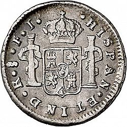 Large Reverse for 1/2 Real 1803 coin