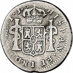Large Reverse for 1/2 Real 1805 coin