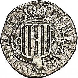 Large Obverse for 1/2 Real 1612 coin