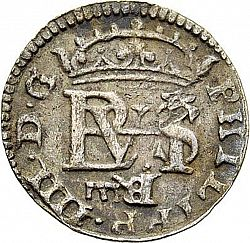 Large Obverse for 1/2 Real 1652 coin