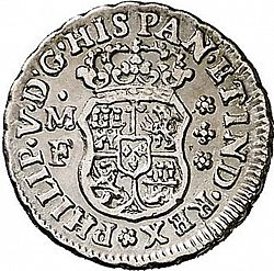 Large Obverse for 1/2 Real 1738 coin