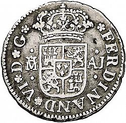Large Obverse for 1/2 Real 1746 coin