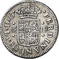 Large Obverse for 1/2 Real 1752 coin