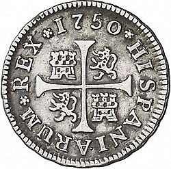 Large Reverse for 1/2 Real 1750 coin