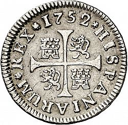 Large Reverse for 1/2 Real 1752 coin