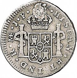 Large Reverse for 1/2 Real 1808 coin